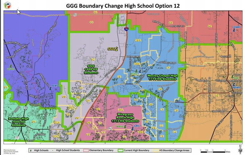 Possible rezoning areas for Pasco County as of October 20th, 2016.