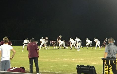 The Wiregrass Ranch Bulls and Mitchell Mustangs line up before the snap.