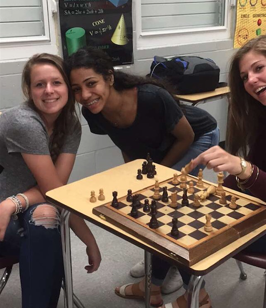One of the first Chess club meetings.