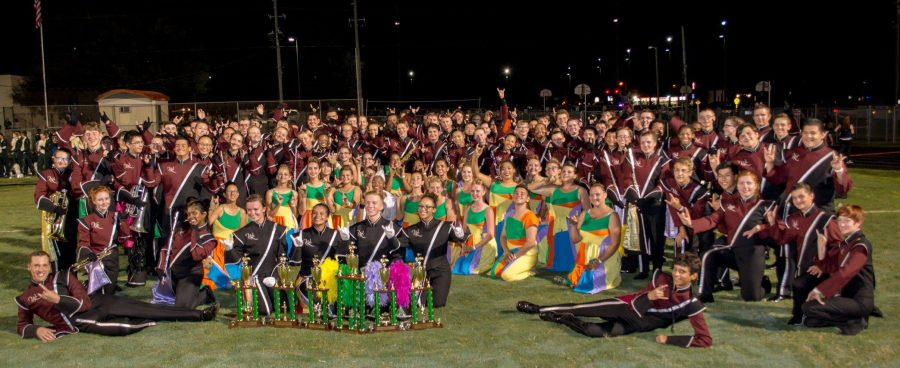 The+WRHS+Marching+Bulls+at+their+first+competition+of+the+2016+season.