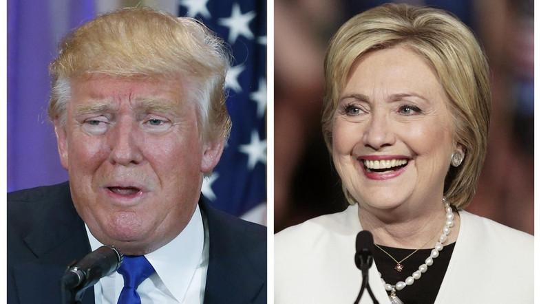Trump Vs. Clinton  Thanks, REUTERS/Scott Audette (L), Javier Galeano (R) for the photo.