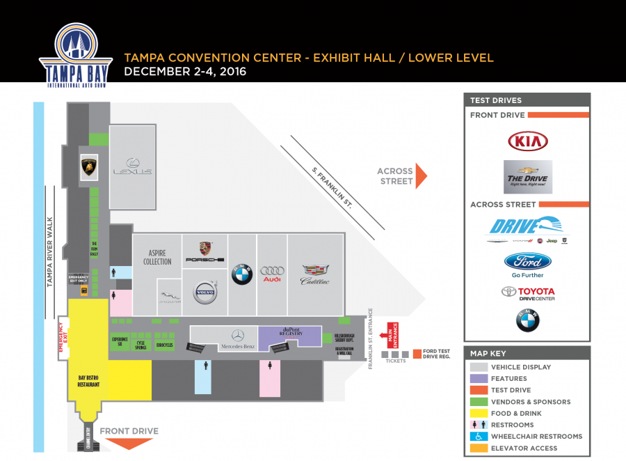 Lower level map of auto show