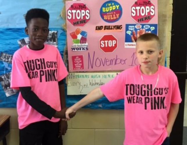 Pink out day symbolizes their awareness of bullying and other issues.