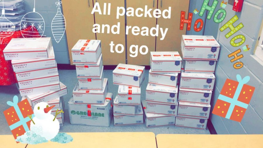 Care+Packages+that+were+being+sent+off+on+December+5th.+