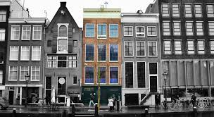 The Anne Frank House is located along a canal.