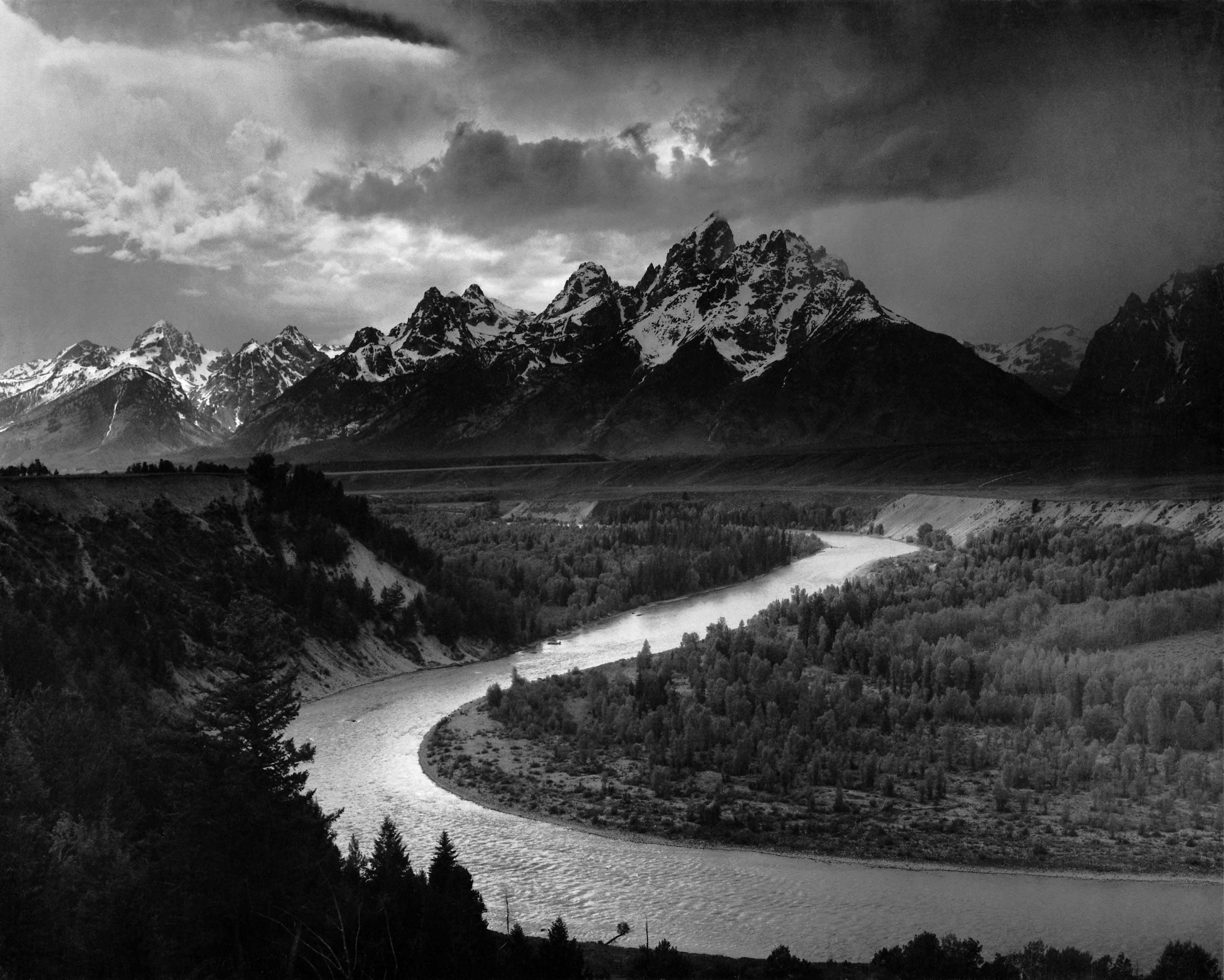 This is a famous example of black and white photography by ansel adams its called