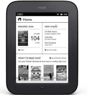 The first edition of the NOOK E-reader. Barnes & Noble.