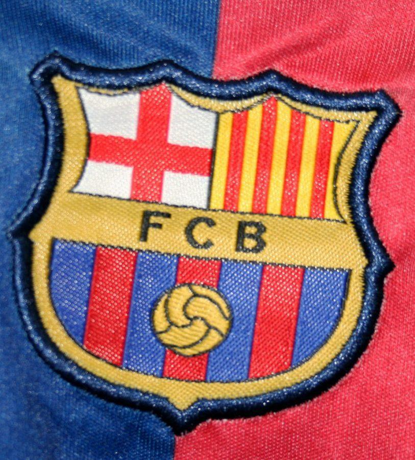 The logo of FC Barcelona that will go down in history forever.
