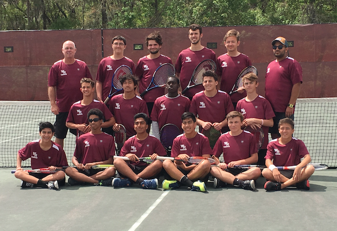 2016-2017 Boys tennis team