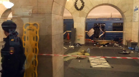 Photo of the train station after the explosion. (Credit: CNN)