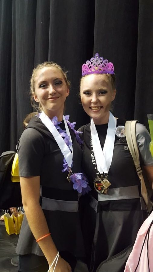 Two varsity members after awards