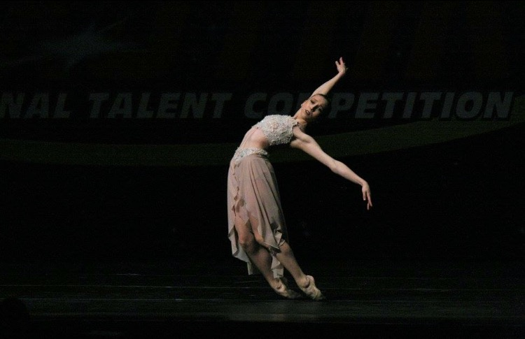Brennan performing during a competition.