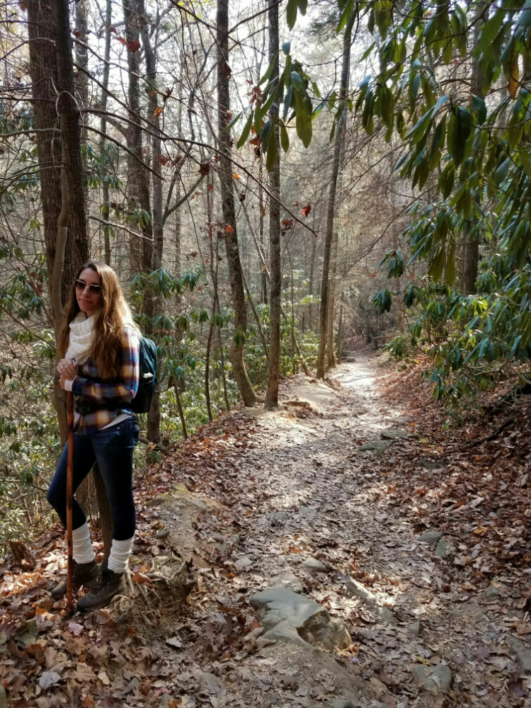 This is a photo of one of the many hiking trips that Hewitt had taken with her husband.