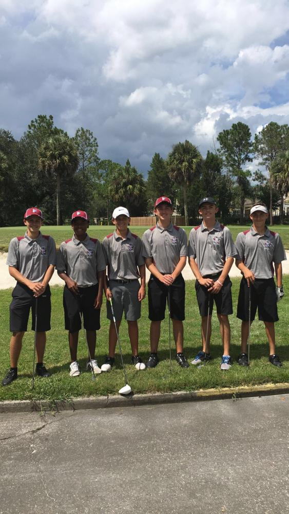 The boys golf team before one of their matches.