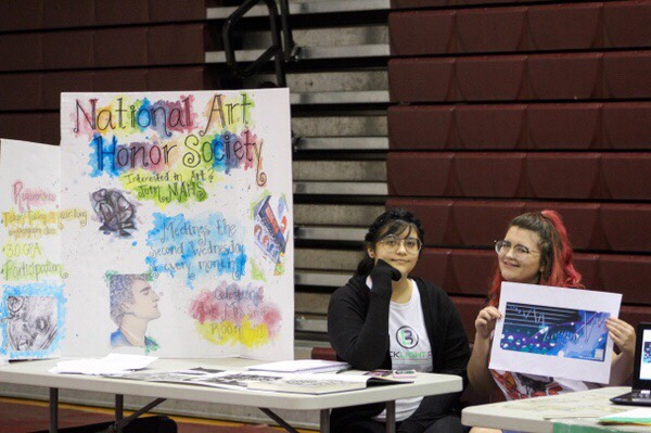 National Art Honor Society at club showcase.