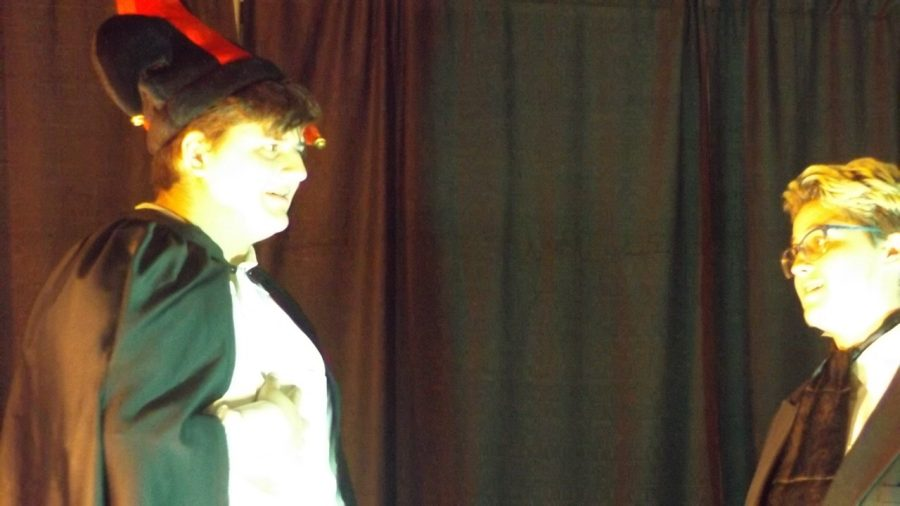 JD McDonald and Danica Horwitz as Fortunato and Montresor in