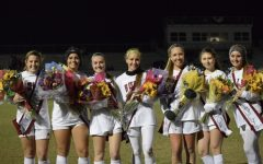 Girls varsity soccer recognize seniors