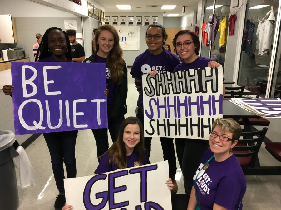 These students showed their support for Domestic Violence Awareness.