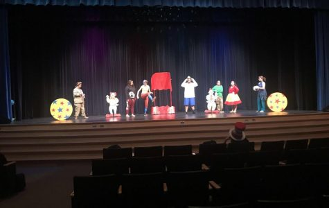 The Seussical cast during rehearsal at the Wesley Chapel Performing Arts Center
