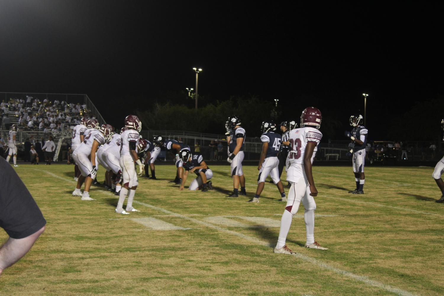 The Bulls lining up on offense, looking to score.