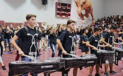 Band students get the crowd pumped with their performance