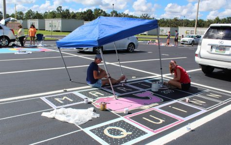 Senior parking spot painting at the Ranch