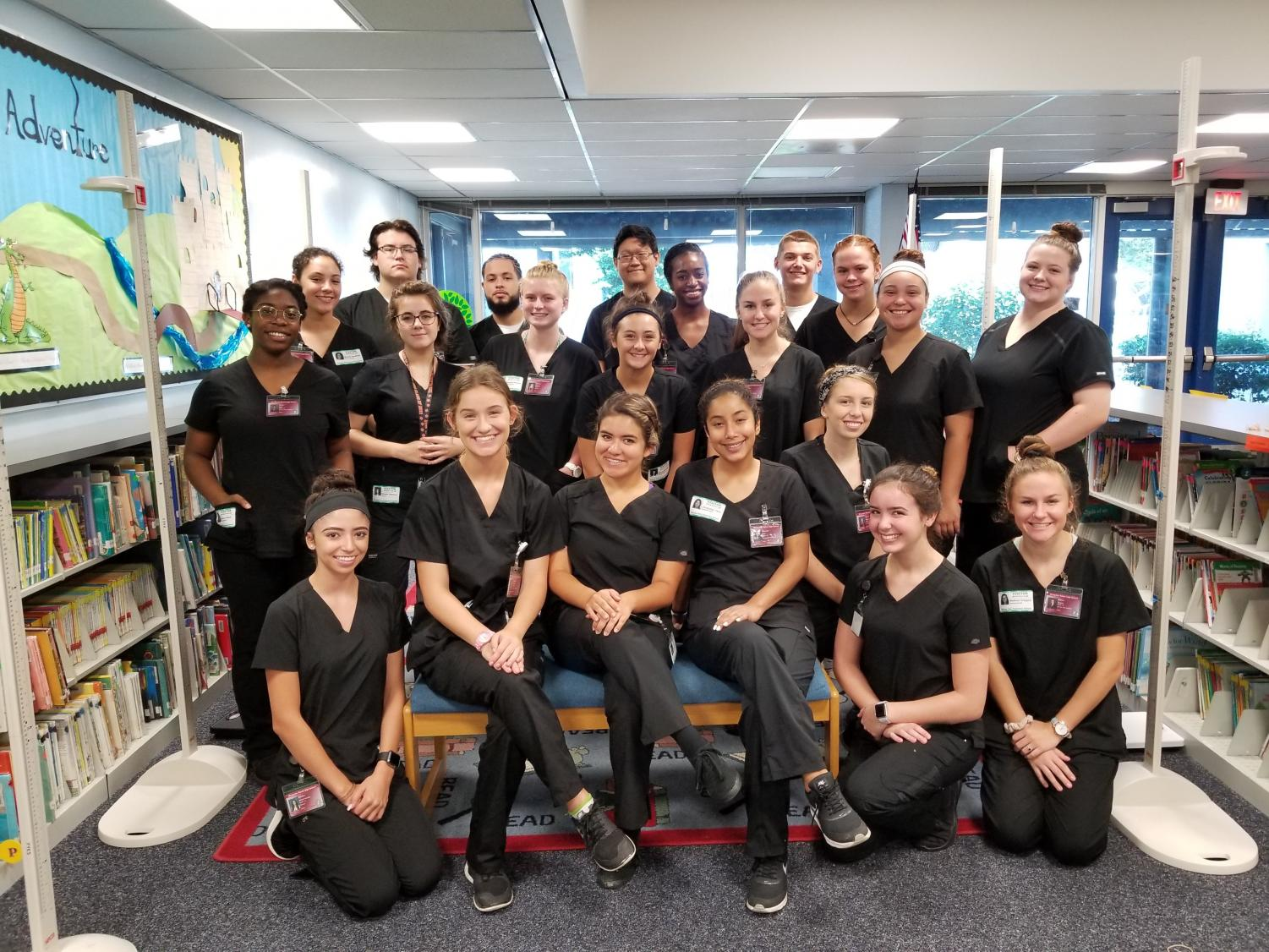 CNA students right before their clincal.