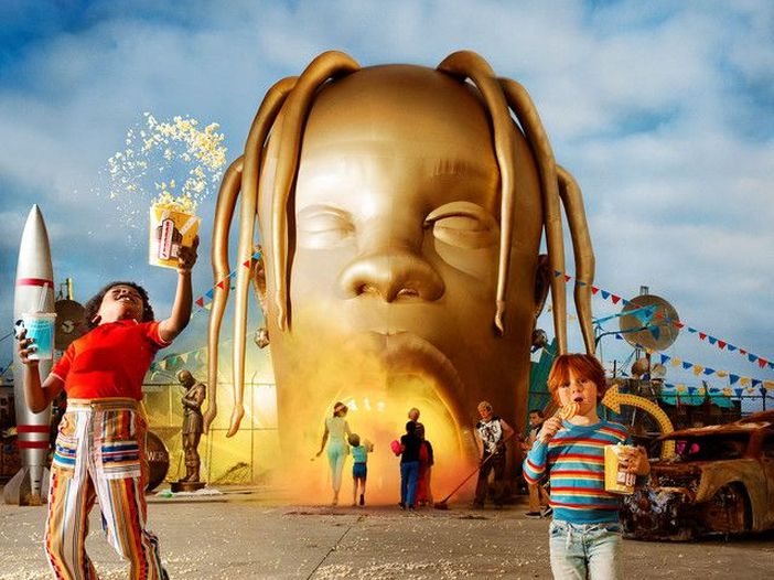 Album cover for Travis Scott's new album