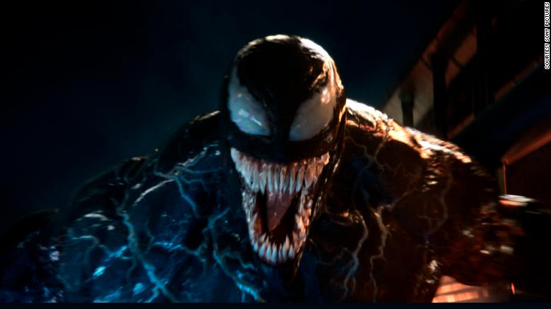 Venom surprisingly ends up being the good guy throughout the movie
