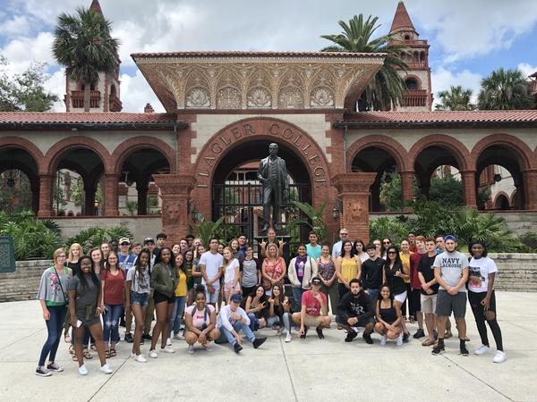 Students visit Flagler, a Liberal arts college in St. Augustine, Florida