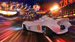 This still from Speed Racer shows just how colorful and vibrant the cinematography is.