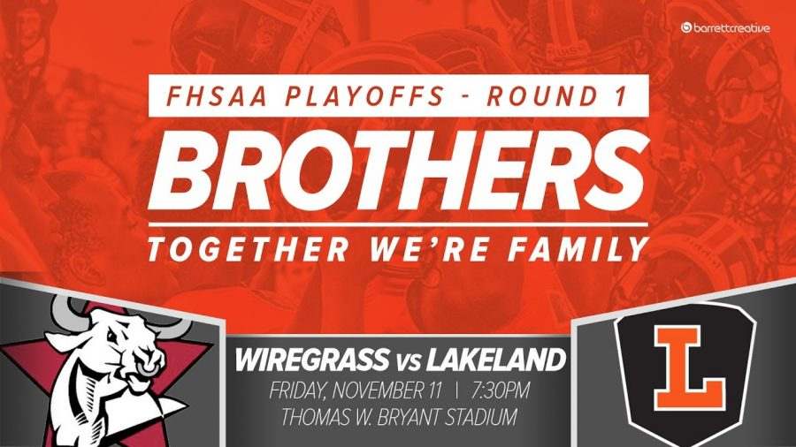 The Wiregrass Bulls faced the Lakeland Dreadnoughts in the first round of The FHSAA playoffs