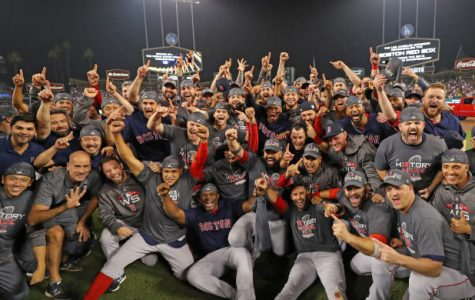The Boston Red Sox win the 2018 World Series