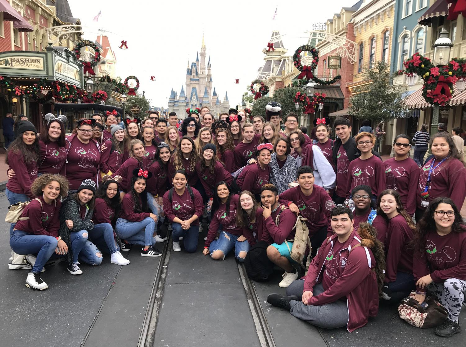 The WRHS Advanced Choir at Magic Kingdom.