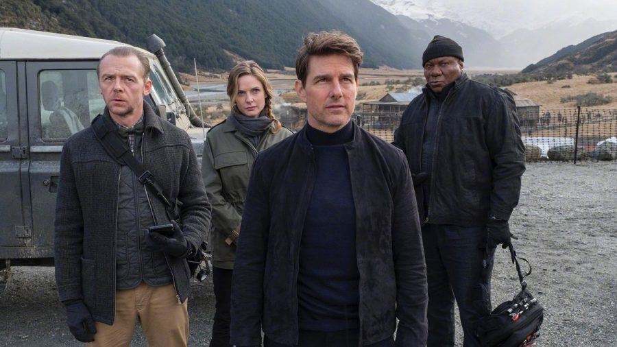 The cast, led by Tom Cruise in Mission Impossible Fallout