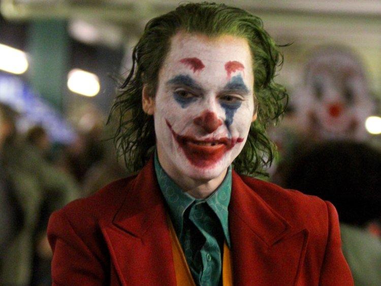 Image taken of Joaquin Phoenix portraying the iconic villain Joker.