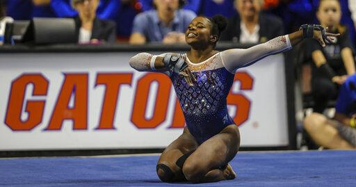 Florida's Alicia Boren performs her floor routine