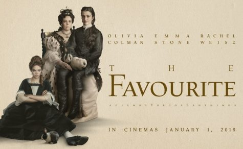 The official movie poster for The Favourite released to theatres.