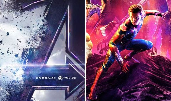Left side is official poster for new Avengers movie; right side is showing that the avengers who died are rumored to come back