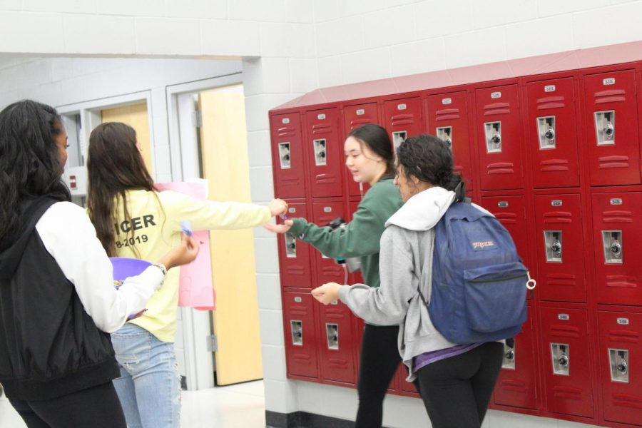 Students receive candy and are made aware to buckle up for their Valentine.