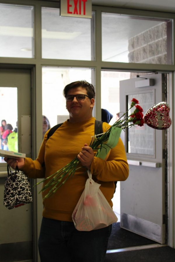 Student, J.D McDonald, poses for a picture on Valentine's day to show he supports BOTB week.