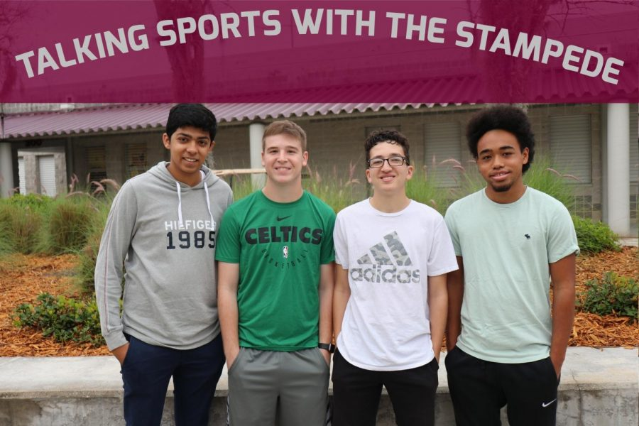 Christian Varghese, Jason Mazursky, Philip Carvalho, and Damon Walden are the hosts of the Talking Sports podcast.
