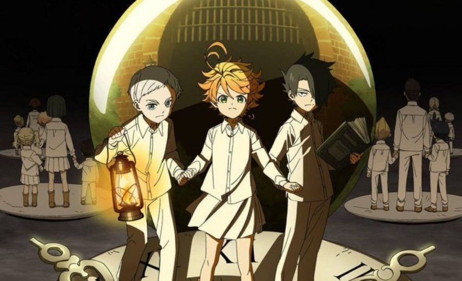 "Official poster for ""The Promised Neverland"" anime."