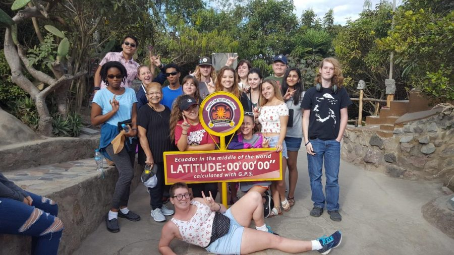 Students who went to the Galapagos Islands trip last year