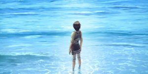 Image taken of Eren staring at the sea, which was his dream at the start of the series.