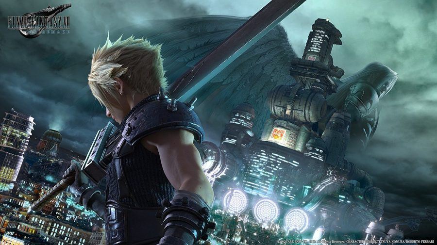 Promotional poster for the new Final Fantasy VII.