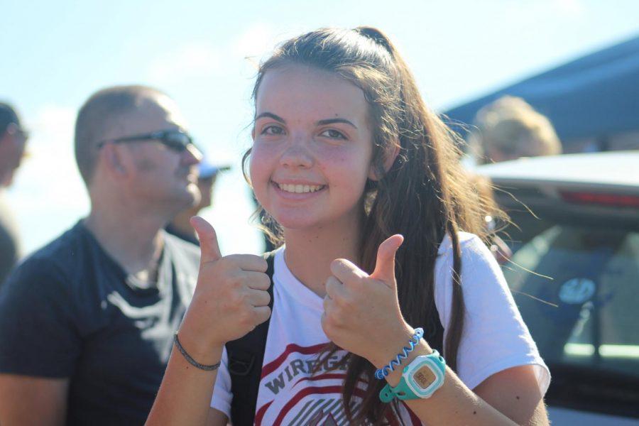 Breanna Preiser happy about her new PR.