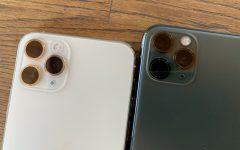 The new triple camera design on the iPhone 11 Pro phone.