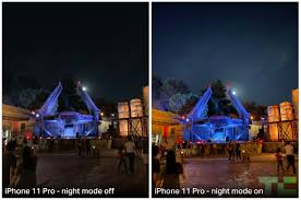 Regular photo vs Night mode on the new IPhone 11.
