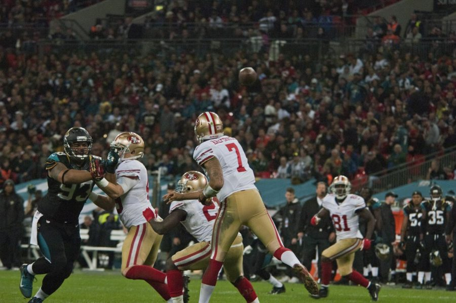 Colin Kaepernick played for the San Francisco 49ers from 2011-2016.